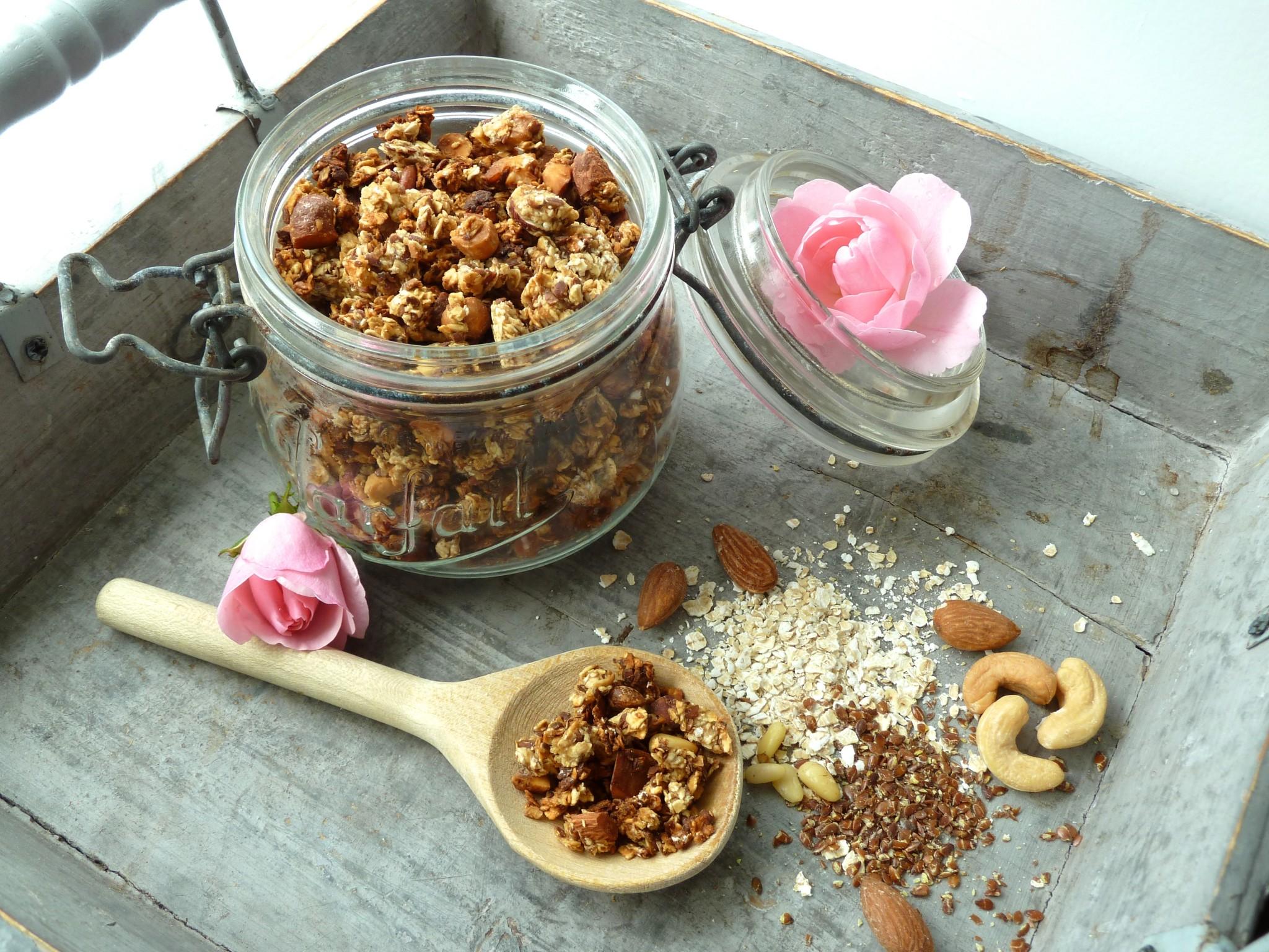 Appel granola met noten