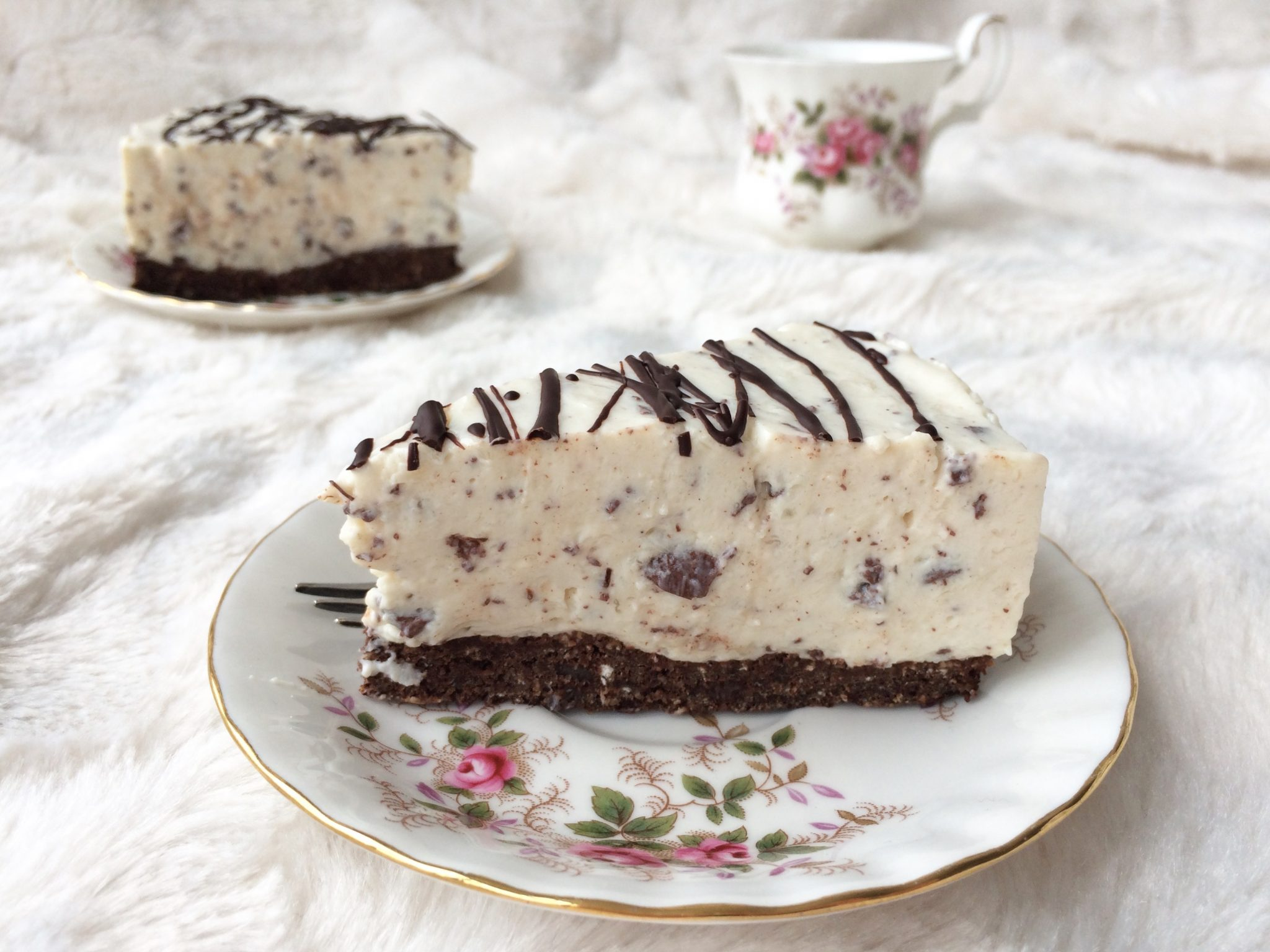 Gezonde stracciatella taart