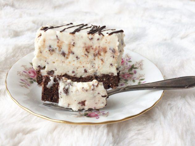 stracciatella taart, stracciatella, gezonde stracciatella taart